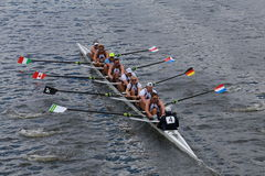 Taurus Boat Club races in the Head of Charles Regatta Men's Championship Eights Royalty Free Stock Photography