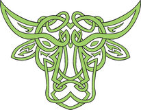 Taurus Bull Celtic Knot Royalty Free Stock Images