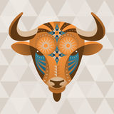 Taurus. (bull) zodiac sign. Vector illustration in ethno style vector illustration