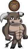 Taurus cartoon. Taurus zodiac sign in cute cartoon style Royalty Free Stock Photos