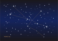 Taurus constellation Stock Photography