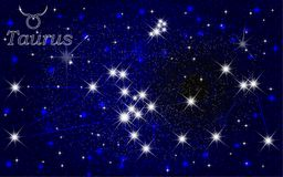 Taurus constellation abstract starry sky Royalty Free Stock Images