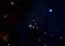 Taurus constellation in deep space Royalty Free Stock Photo