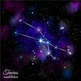 Taurus Constellation With Triangular Background Image stock