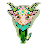 Taurus - decorative zodiac sign Stock Photo