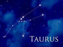 Taurus della costellazione Fotografia Stock Libera da Diritti