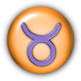 Taurus Glyphs. Horoscope Glyphs Button - Taurus (Include Clipping Path Stock Photography