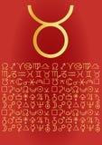 Taurus greeting card. Taurus sign, greeting card - vectorial image Royalty Free Stock Photo
