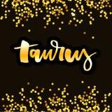 Taurus lettering Calligraphy Brush Text horoscope Zodiac sign illustration. Taurus lettering Calligraphy Brush Text horoscope Zodiac sign vector illustration