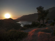 Taurus Mountain och hamn på Kas, Turkiet Royaltyfri Bild