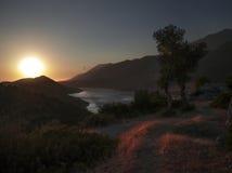Taurus Mountain und Hafen bei Kas, die Türkei Lizenzfreies Stockbild