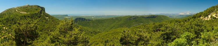 Taurus Mountains kalkon panorama Arkivbilder