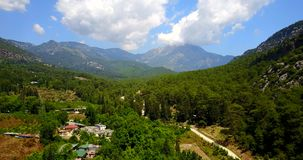 The Taurus Mountains. Mount Tahtali Olympos in the province of Antalya, Turkey. The green Taurus Mountains landscape. Mount Tahtali Olympos in the province of stock video