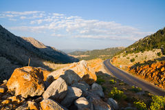 Taurus Mountains, Turkey. Road in Taurus Mountains, Turkey stock image
