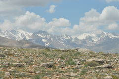 Taurus Mountains. Turkey. Steep cliffs and gorge. Snow-capped peaks Royalty Free Stock Image