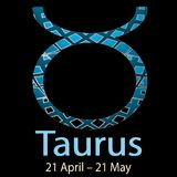 Taurus. Ornamental decorative vector Zodiac sign.  Astrological Stock Photos