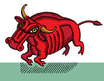 Taurus red cubist Royalty Free Stock Photography