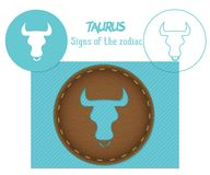 Taurus. Signs of the zodiac. Lazenaya cutting. It can be used for laser cutting of wood, leather, paper, cardboard, plastic.  Royalty Free Stock Photo
