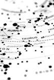Taurus on star map B Stock Photography