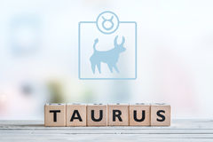 Taurus star sign on a table Royalty Free Stock Images