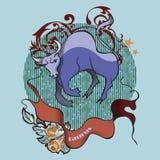 Taurus tatuaż obraz stock