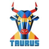 Taurus. Vector horoscope, polygonal flat zodiac sign, astrological sign. Horoscope, polygonal flat zodiac sign, astrological sign vector illustration