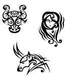 Taurus, virgo and capricorn Royalty Free Stock Image
