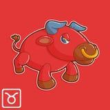 Taurus Zodiac διανυσματική απεικόνιση ωροσκοπίων στοκ φωτογραφία με δικαίωμα ελεύθερης χρήσης