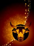 Taurus zodiac background Royalty Free Stock Images