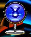 Taurus zodiac crystal ball Stock Photography