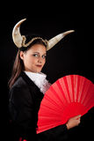 Taurus zodiac girl. Taurus or Bull woman, this photo is part of a series of twelve Zodiac signs of astrology stock photography