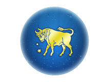 Taurus - Zodiac Golden Sign Stock Photography