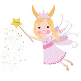 Taurus zodiac sign astrological Cute fairytale Stock Image