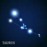 Taurus Zodiac Sign of the Beautiful Bright Stars Royalty Free Stock Photos