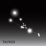 Taurus Zodiac Sign of the Beautiful Bright Stars Stock Photography