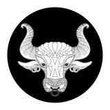 Taurus zodiac sign, horoscope symbol, vector illustration Stock Photo