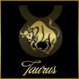 Taurus zodiac star sign. Background of taurus sign for horoscope royalty free illustration