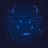 Taurus zodiac whith glitter star Stock Photos