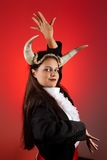 Taurus zodiac woman. Taurus or Bull woman, this photo is part of a series of twelve Zodiac signs of astrology royalty free stock photos