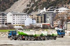 Tauscht Baustelle La Vella, Andorra Stockfotos
