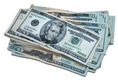 Tausend Dollar (mit Ausschnittspfad) Stockfotografie