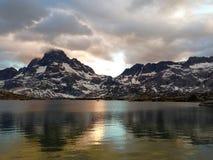 Tausend Insel-Sonnenuntergang lizenzfreie stockbilder