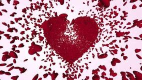 Tausende-rote Herzen 3D stock footage