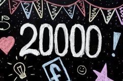 20 Tausenden Kreidezeichnung auf Tafel Lizenzfreie Stockfotografie
