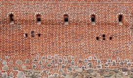 Tausenden Ziegelsteine des roten Lehms Stockfoto
