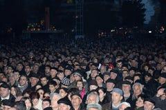Tausendeprotest in Armenien gegen wiedergewählten Präsidenten Lizenzfreie Stockfotografie
