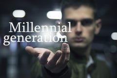 Tausendjährige Generationsmitteilung lizenzfreie stockfotografie