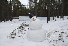 tauwetter Schneemannschmelzen Lizenzfreie Stockbilder