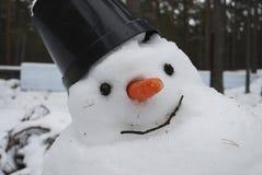tauwetter Schneemannschmelzen Stockfoto