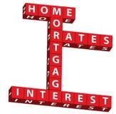 Taux d'intérêt de prêt hypothécaire à l'habitation illustration stock